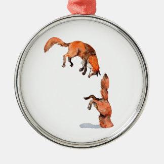 Adorno Metálico Fox rojo de salto