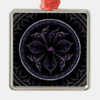 Adorno Metálico Fractal floral