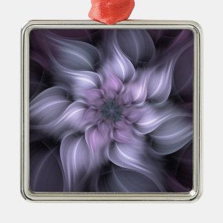 Adorno Metálico Fractal púrpura