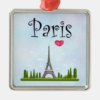 Adorno Metálico Francés París con la torre Eiffel