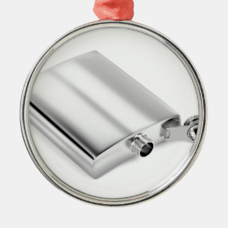 Adorno Metálico Frasco de plata de la cadera