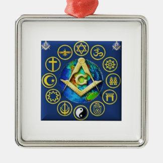 Adorno Metálico Freemasonry todas las religiones