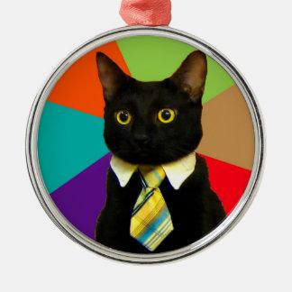 Adorno Metálico gato del negocio - gato negro
