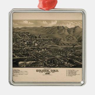 Adorno Metálico golden1882