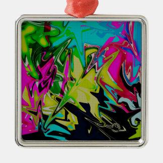 Adorno Metálico Goteo fundido abstracto oscuro del color
