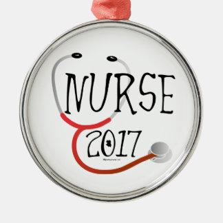 Adorno Metálico Graduado 2017 de la enfermera