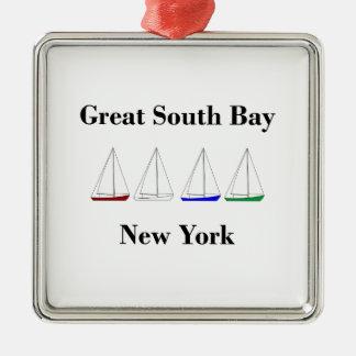 Adorno Metálico Gran navegación del sur de la bahía - veleros de