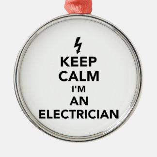 Adorno Metálico Guarde la calma que soy electricista