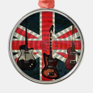 Adorno Metálico Guitarra eléctrica de Union Jack de la bandera del