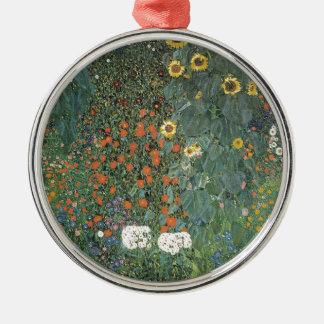 Adorno Metálico Gustavo Klimt - flores de los girasoles del jardín
