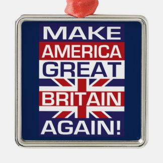 Adorno Metálico ¡Haga América Gran Bretaña otra vez!