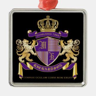 Adorno Metálico Haga su propio emblema de la corona del monograma
