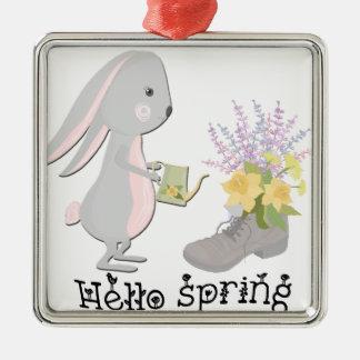 Adorno Metálico hola primavera