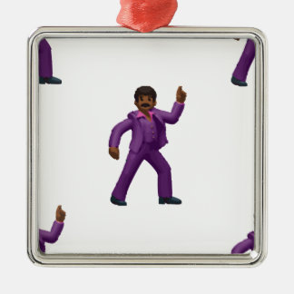 Adorno Metálico Hombre del baile de Emoji