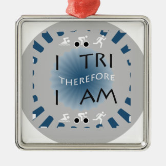 Adorno Metálico I tri por lo tanto soy Triathlon
