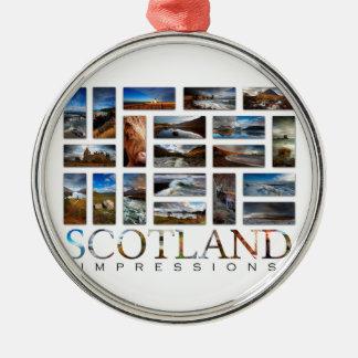 Adorno Metálico Impresiones de Escocia