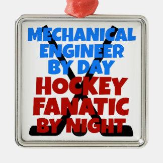 Adorno Metálico Ingeniero industrial del amante del hockey