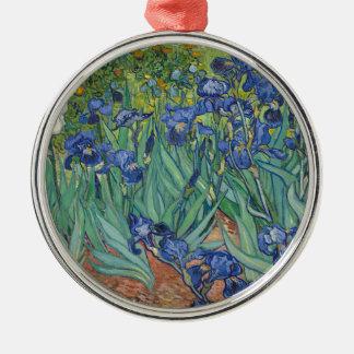 Adorno Metálico Iris de Vincent van Gogh que pintan el trabajo de