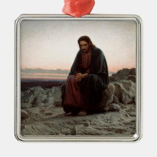 Adorno Metálico Ivan Kramskoy- Cristo en el desierto - bella arte