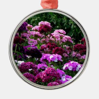 Adorno Metálico Jardín de flores en verano