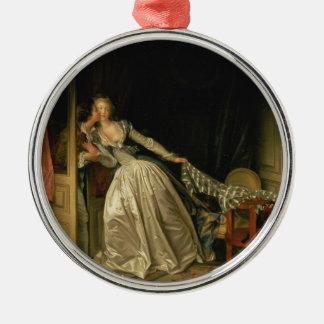 Adorno Metálico Jean-Honore Fragonard - el beso robado - bella