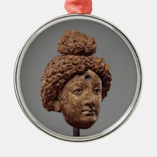 Adorno Metálico Jefe de un Buda o de un Bodhisattva