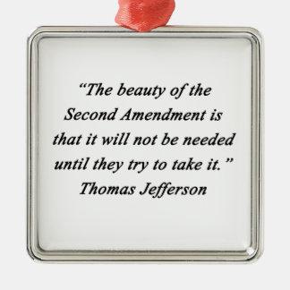 Adorno Metálico Jefferson - segunda enmienda
