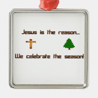 Adorno Metálico Jesús es la razón que celebramos la estación