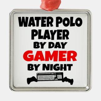Adorno Metálico Jugador de polo del agua del videojugador