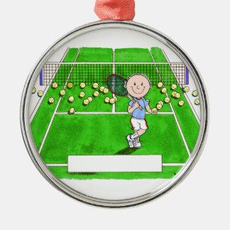 Adorno Metálico Jugador de tenis, varón - dibujo animado