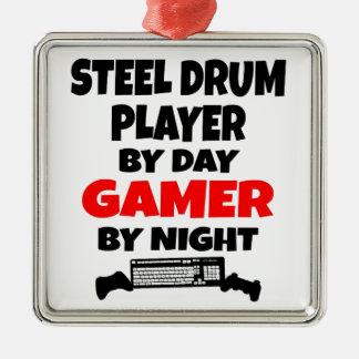 Adorno Metálico Jugador del tambor de acero del videojugador