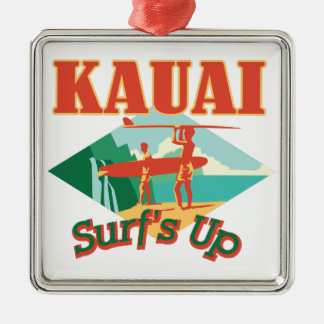 Adorno Metálico Kauai practica surf para arriba