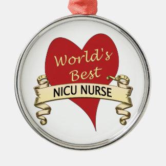 Adorno Metálico La mejor enfermera del NICU del mundo