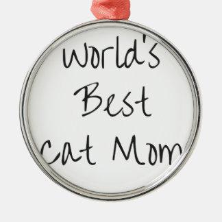 Adorno Metálico La mejor mamá del gato del mundo - negro