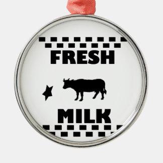 Adorno Metálico Leche de vaca fresca de la lechería