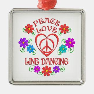 Adorno Metálico Línea de amor de la paz baile