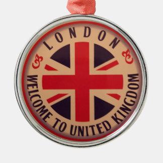 Adorno Metálico Londres - Union Jack - recepción a Reino Unido