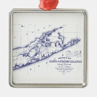 Adorno Metálico Long Island el mapa VC de Hamptons