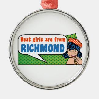 Adorno Metálico Los mejores chicas son de Richmond