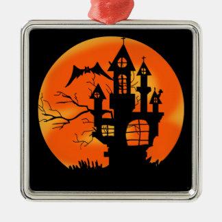 Adorno Metálico Luna de Halloween