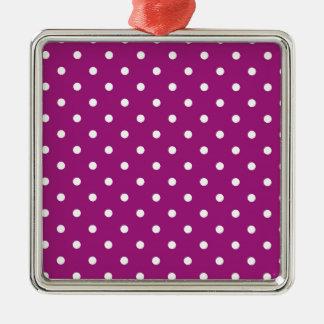 Adorno Metálico Lunares rosados