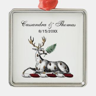 Adorno Metálico Macho de los ciervos con el emblema heráldico del