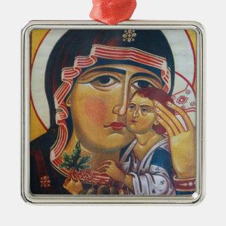 Adorno Metálico Madre Maria y arte de Jesús