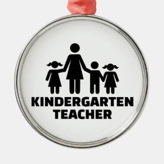 Adorno Metálico Maestro de jardín de infancia