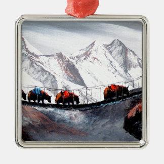 Adorno Metálico Manada de los yacs Himalaya de la montaña