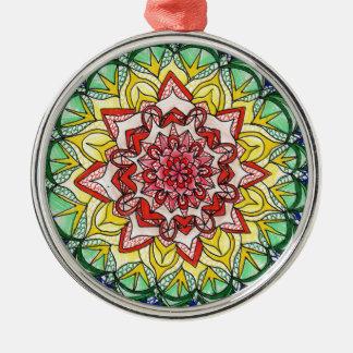 Adorno Metálico Mandala del arco iris