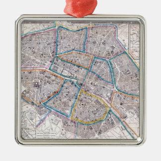 Adorno Metálico Mapa antiguo de París