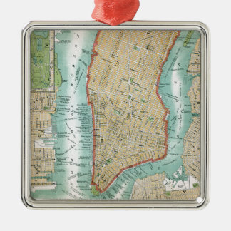Adorno Metálico Mapa antiguo del Lower Manhattan y del Central