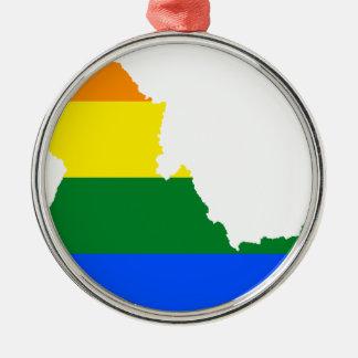 Adorno Metálico Mapa de la bandera de Idaho LGBT