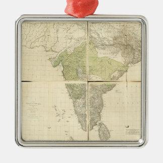 Adorno Metálico Mapa de los indies del este con los caminos (1768)